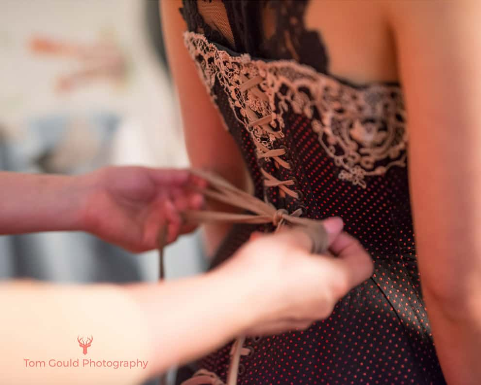 Strapping a corset