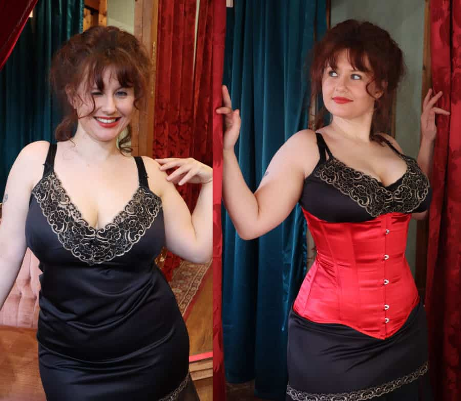 Corset Before after