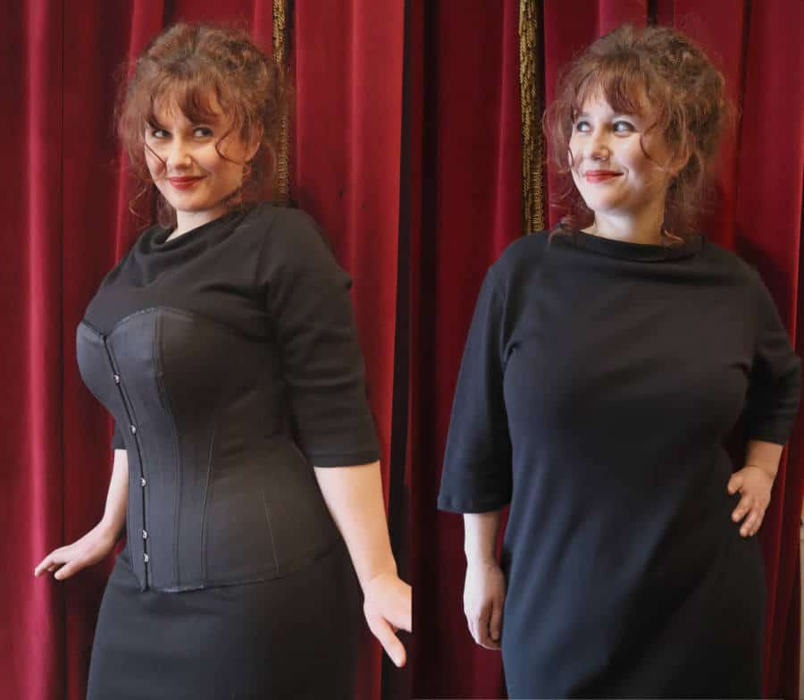 Eynede before after corset