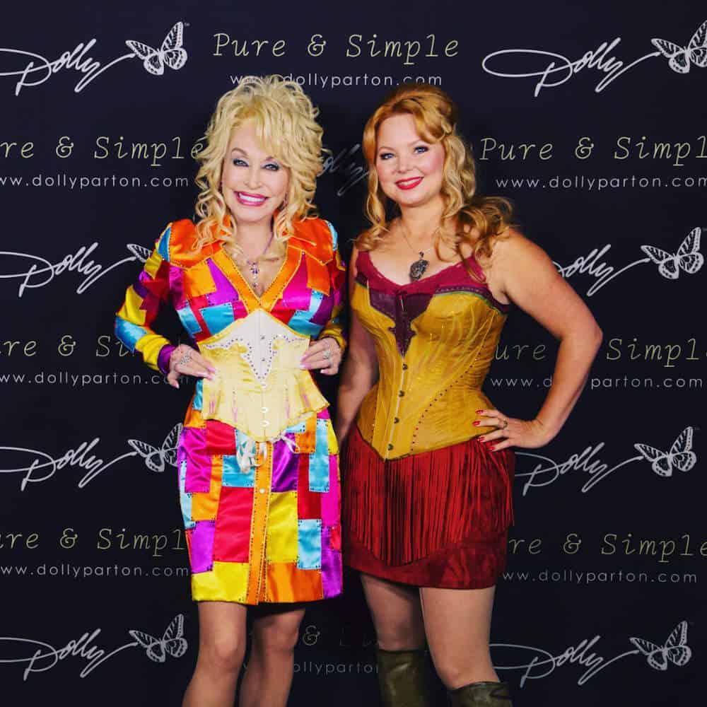 Melanie with Dolly Parton